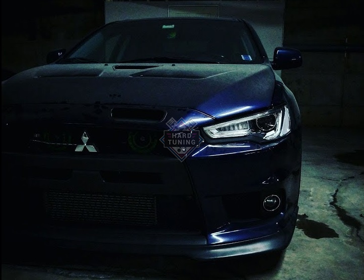 Передние фары DEMON EYE BLACK EDITION Mitsubishi Lancer 10